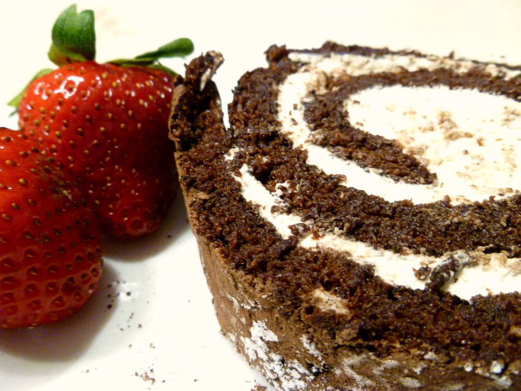 flourless chocolate cake roll