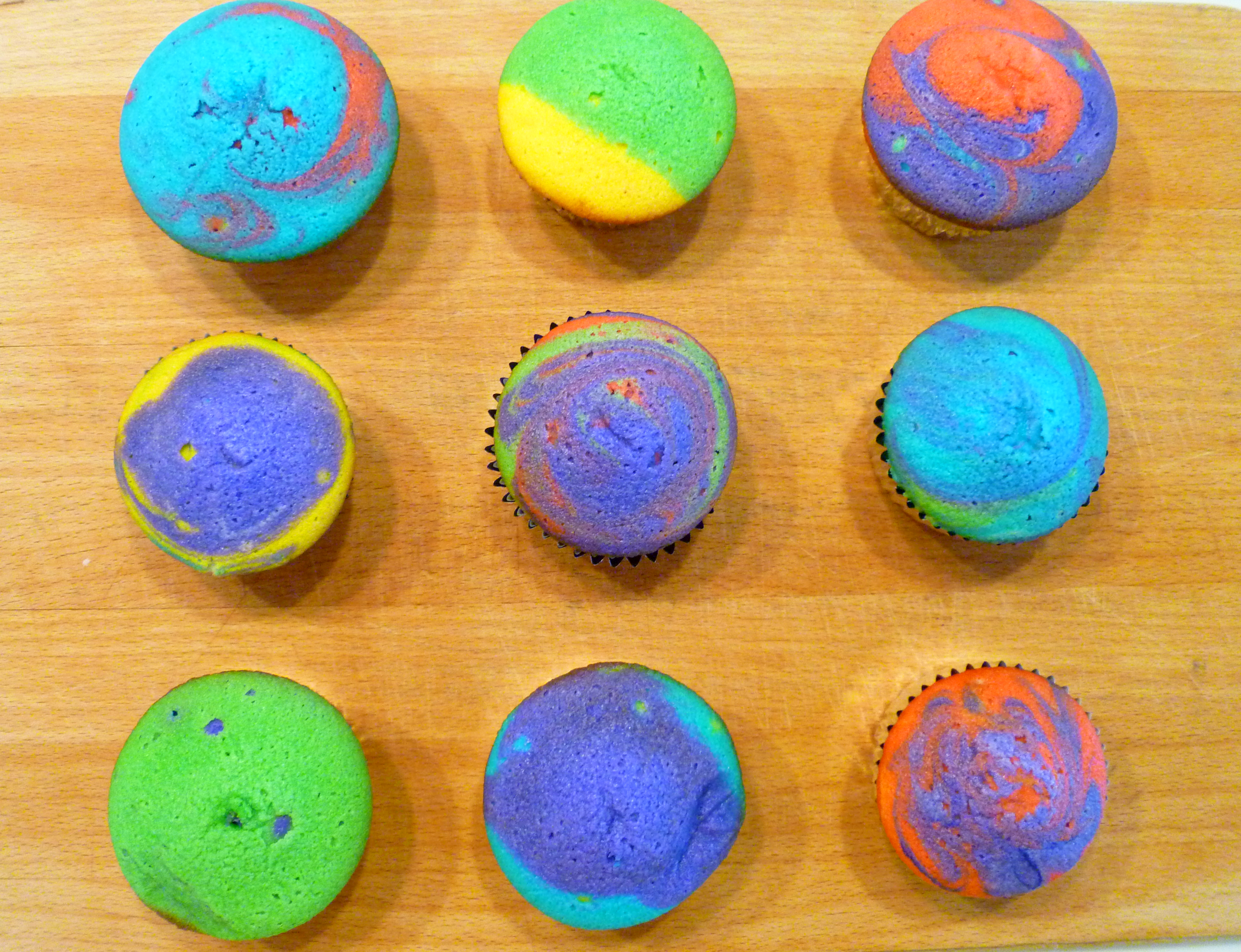 tie-dye cupcakes | The Baking Fairy