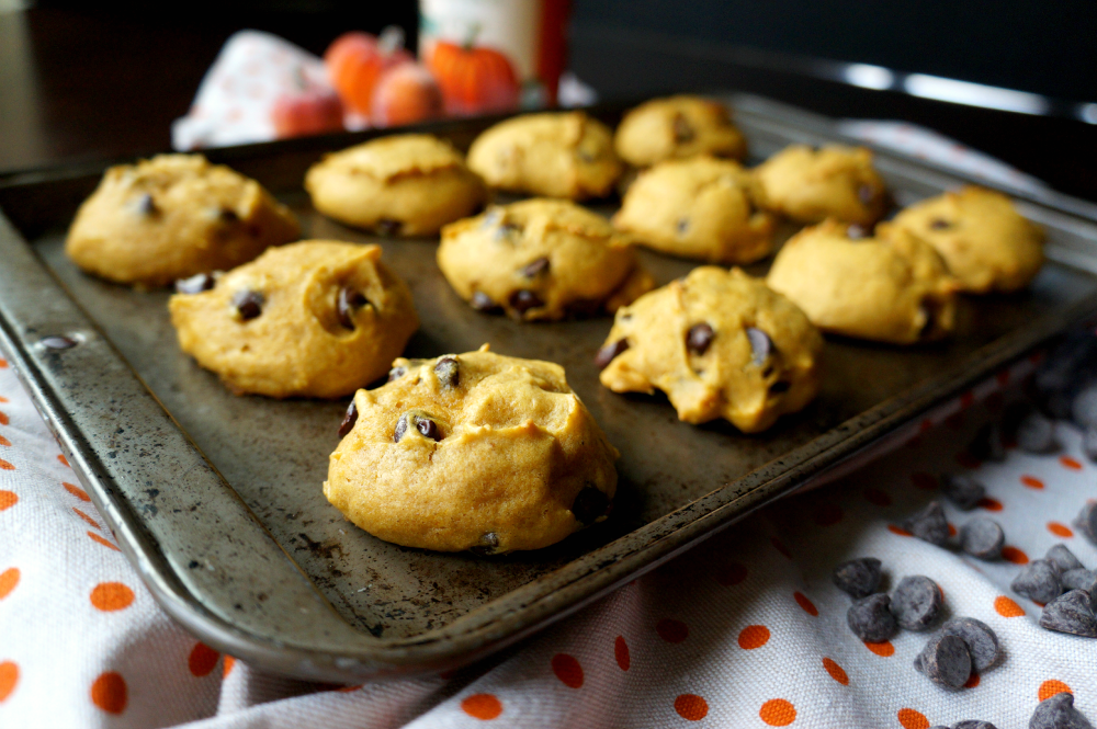 chubby pumpkin chocolate chip cookies | The Baking Fairy