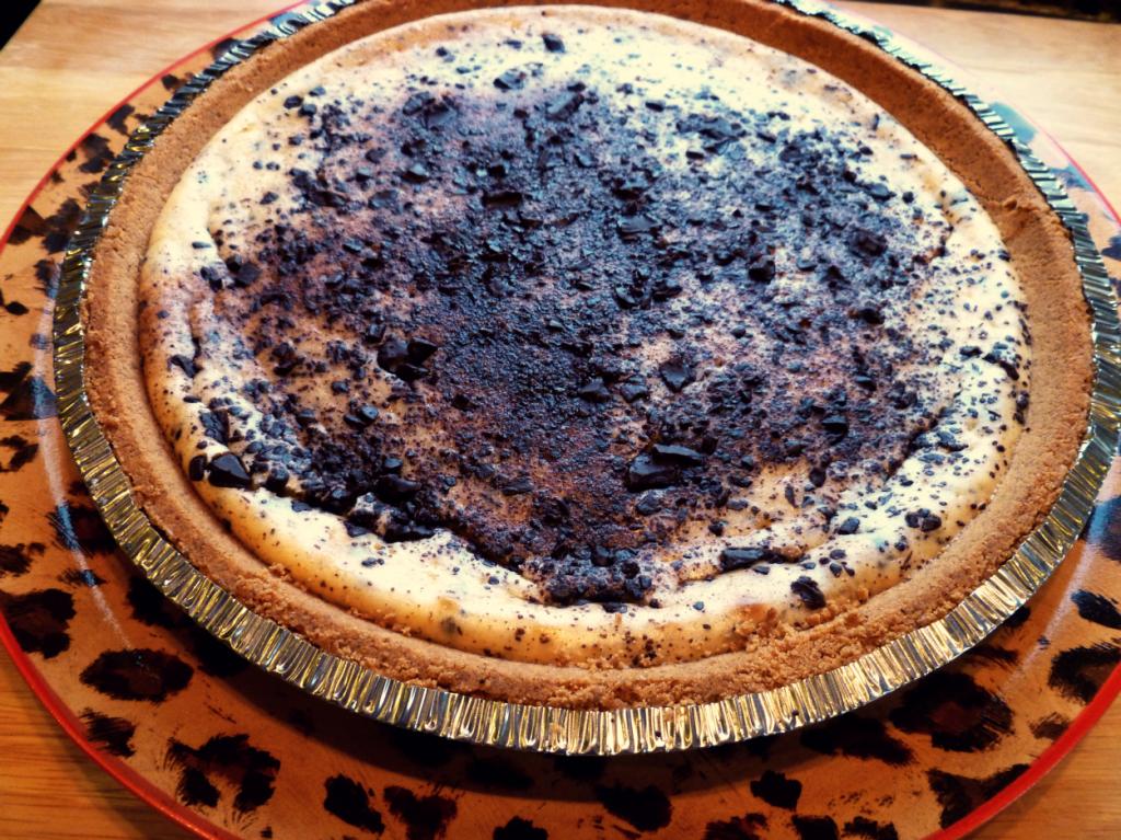 chocolate chunk cheesecake pie