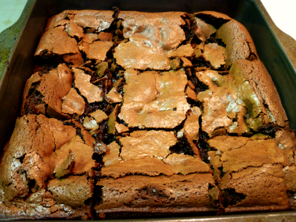 one-bowl truffle brownies