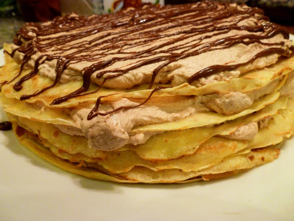nutella crepe cake