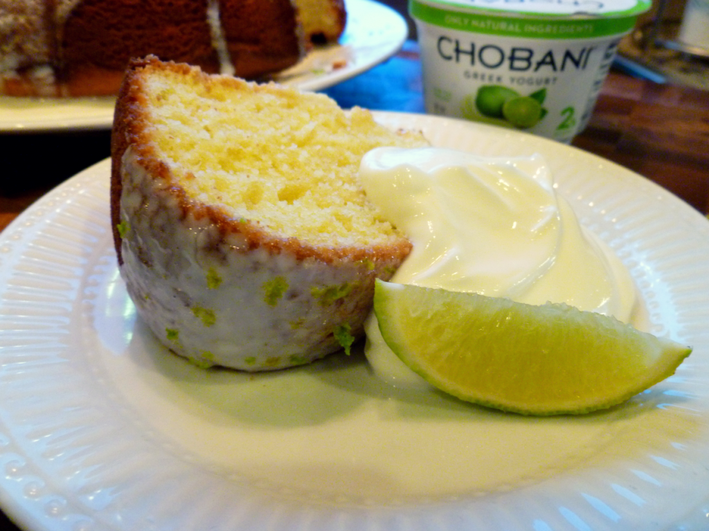 key lime Chobani bundt cake