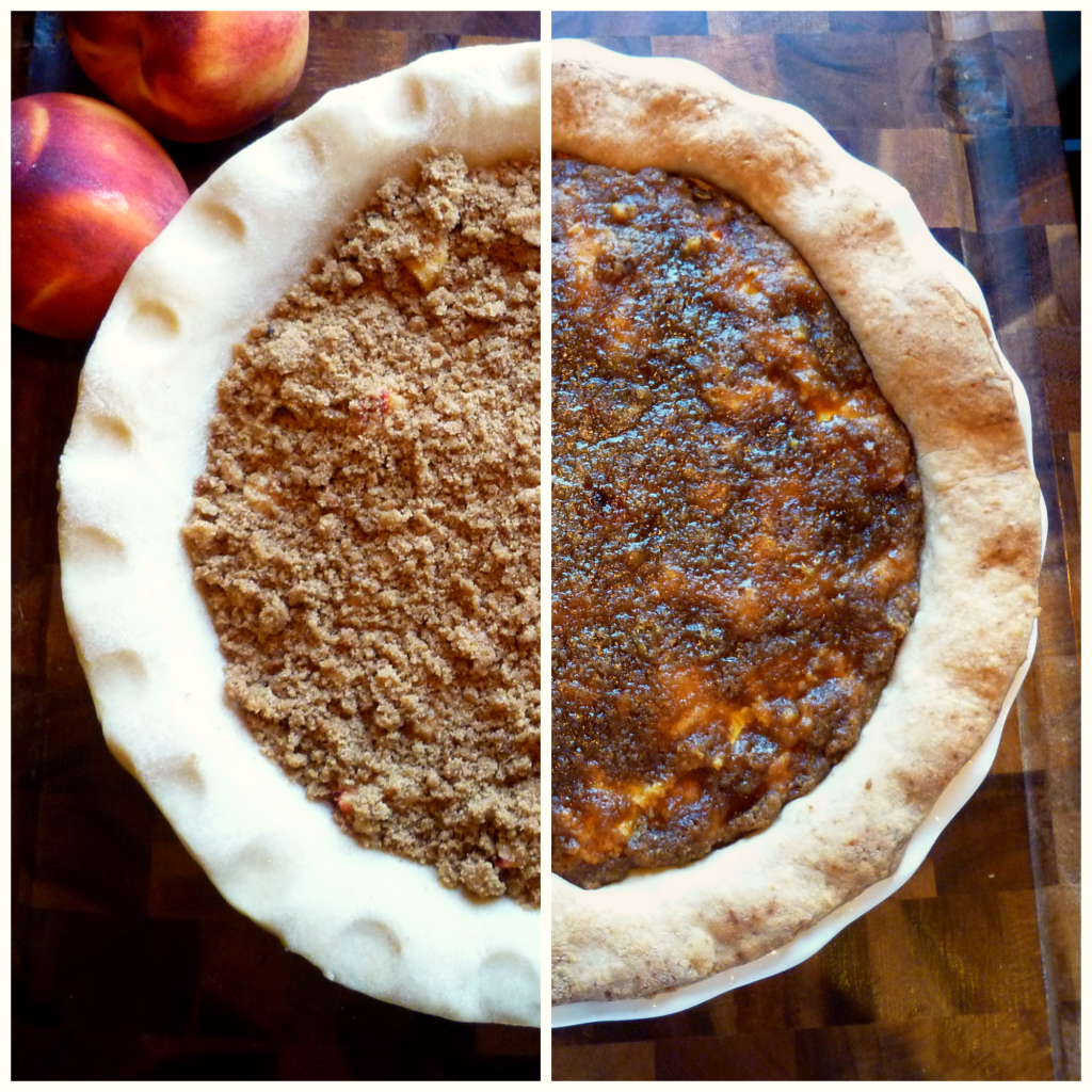 peaches + cream pie