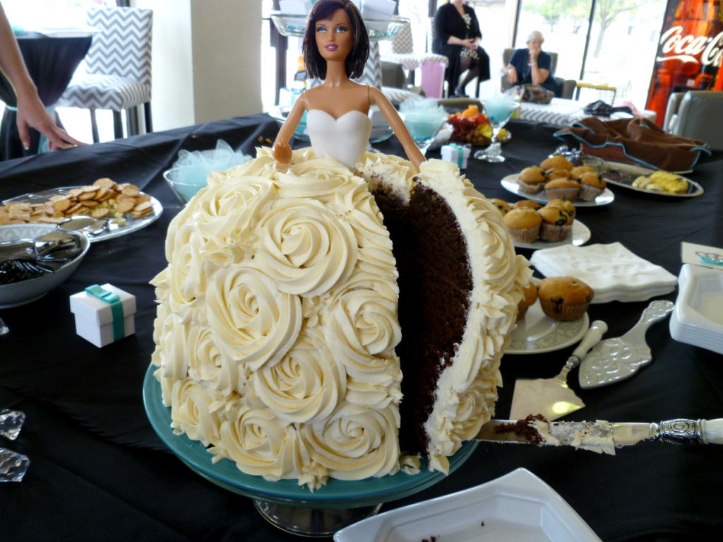 breakfast at Tiffany's shower + vegan Barbie cake   The ...
