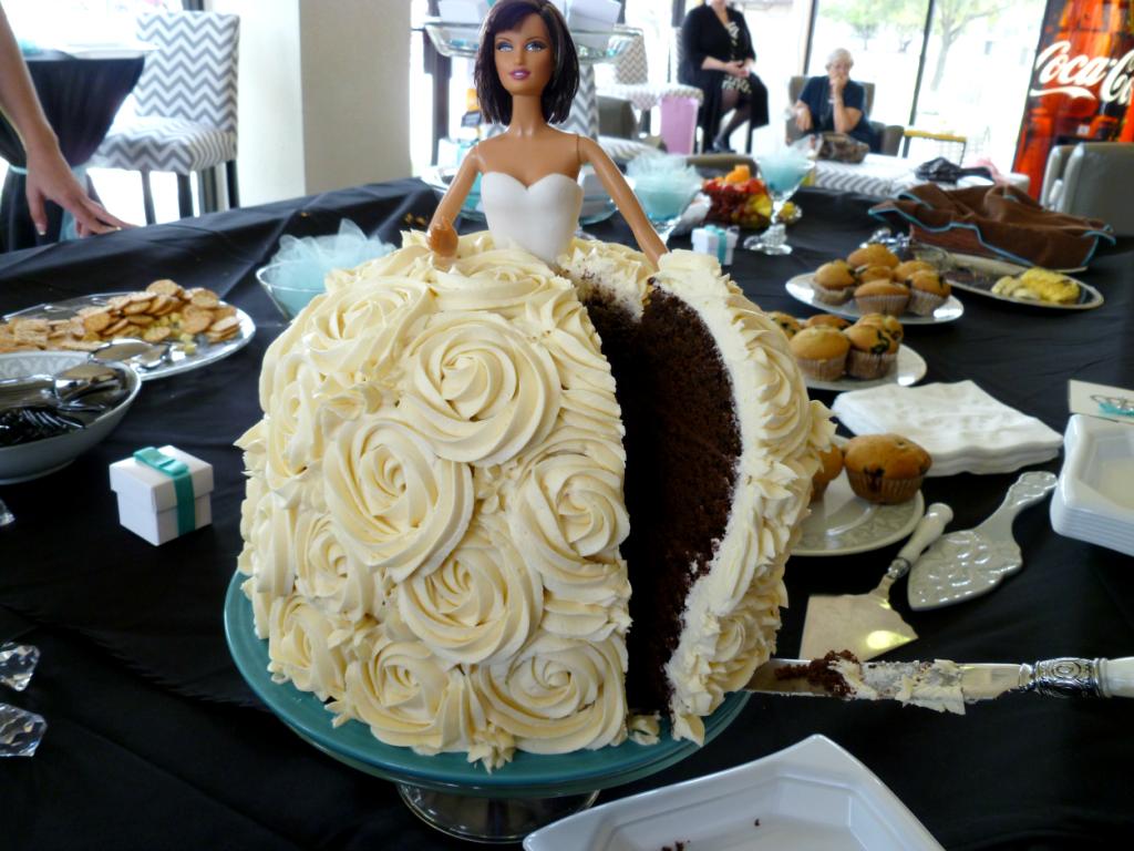 Breakfast At Tiffany S Shower Vegan Barbie Cake The Baking Fairy