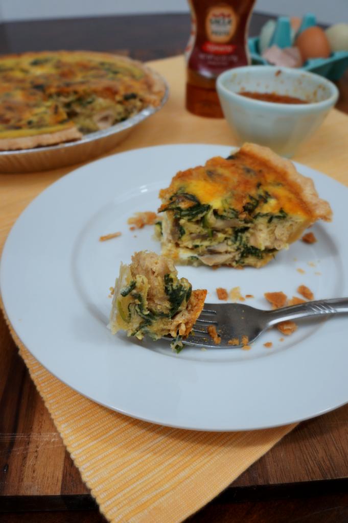 chicken pesto quiche | The Baking Fairy