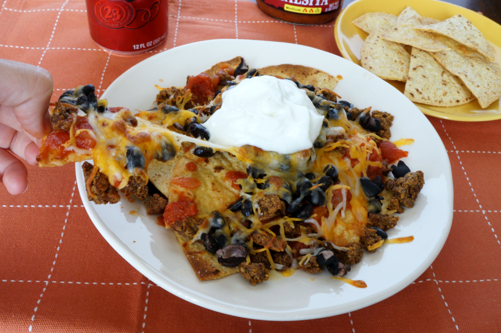 vegetarian nachos with baked chips | The Baking Fairy