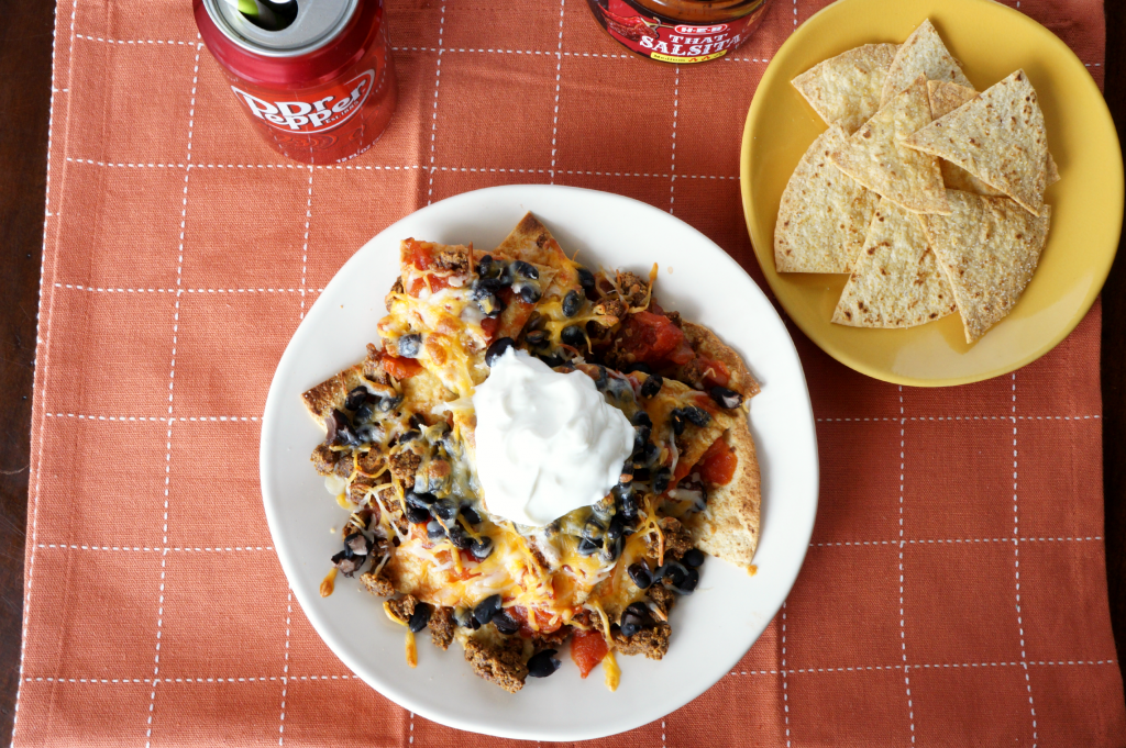 vegetarian nachos with homemade baked chips | The Baking Fairy