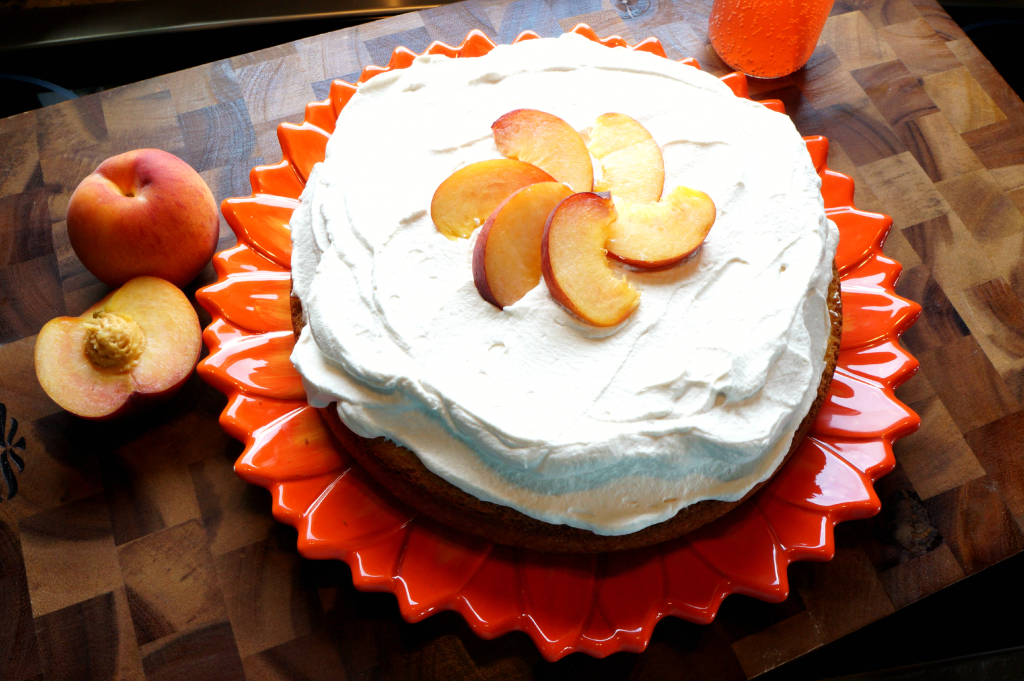 peach bellini soda cake | The Baking Fairy