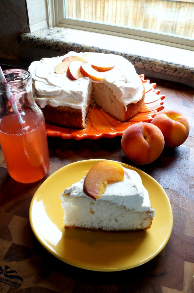 peach bellini soda cake | The Baking Fairy