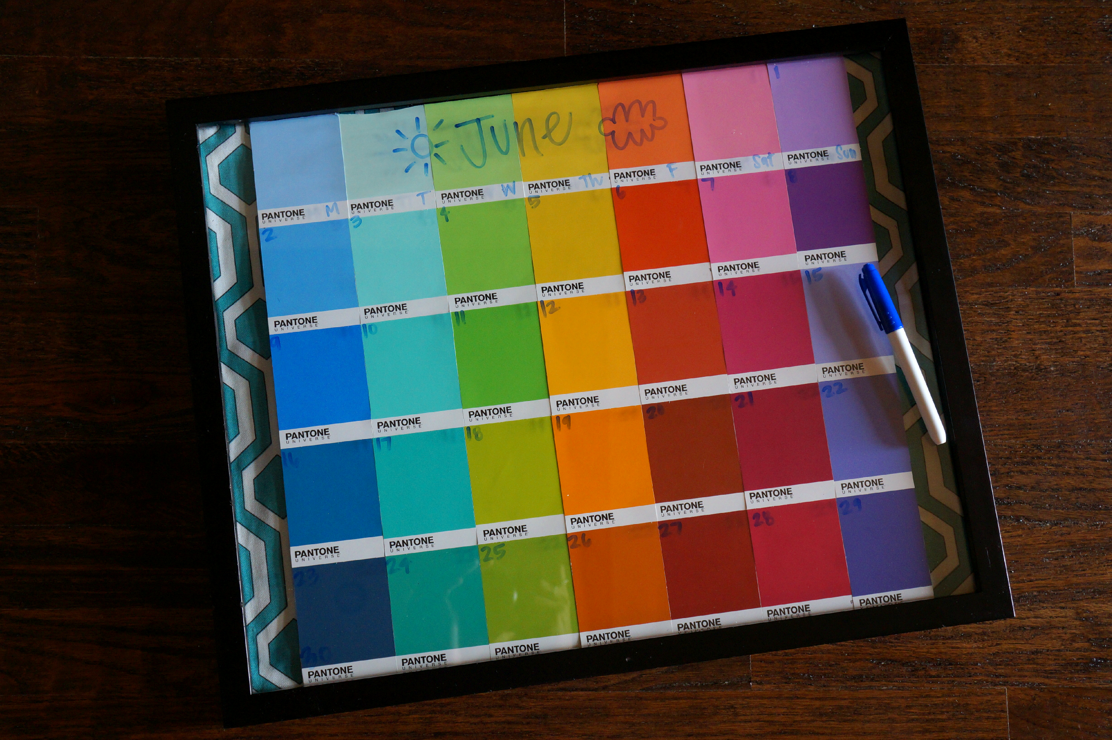 With free paint chips and an inexpensive poster frame, you could create your own custom dry erase calendar for less than $ I'm so excited to have this big, .