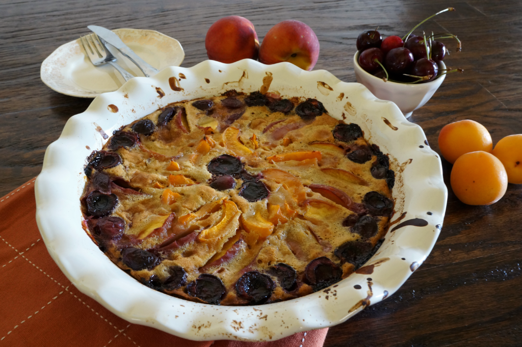 summer fruit clafoutis | The Baking Fairy