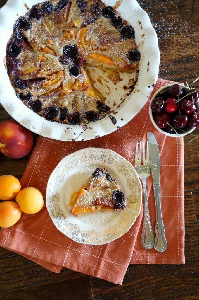 summer fruit clafoutis | The Baking Fairy