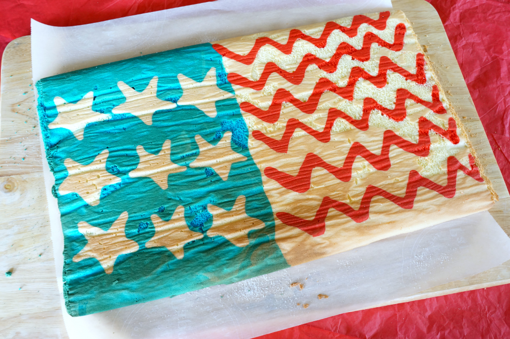 patriotic cake roll | The Baking Fairy