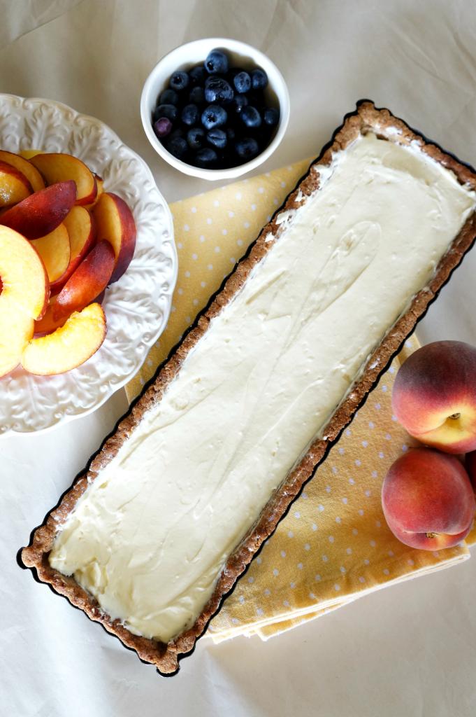 blueberry peach almond tart | The Baking Fairy