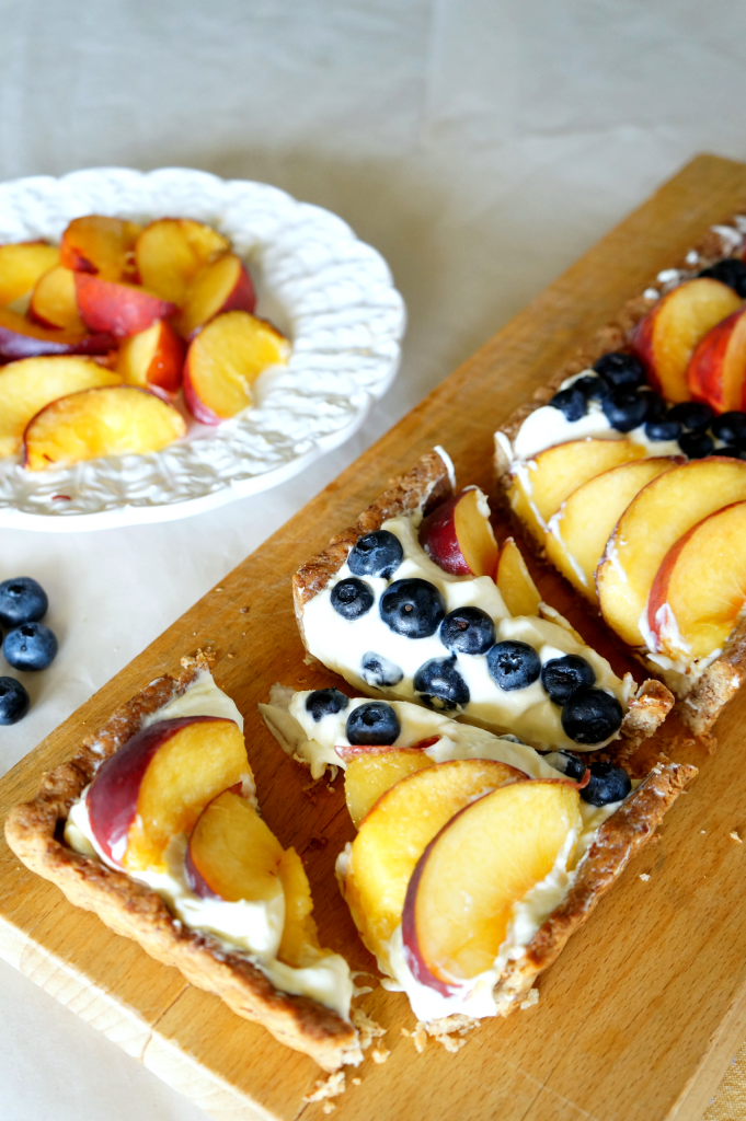 blueberry peach almond tart | The Baking Fairy