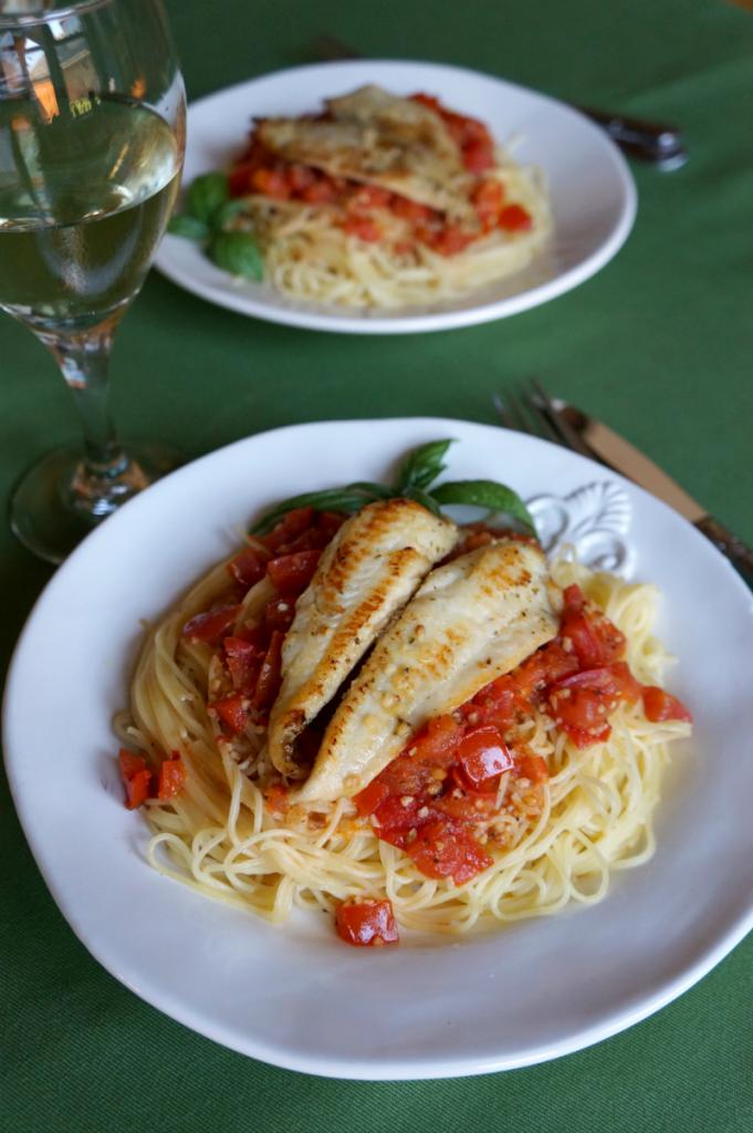 tilapia scampi spaghetti | The Baking Fairy