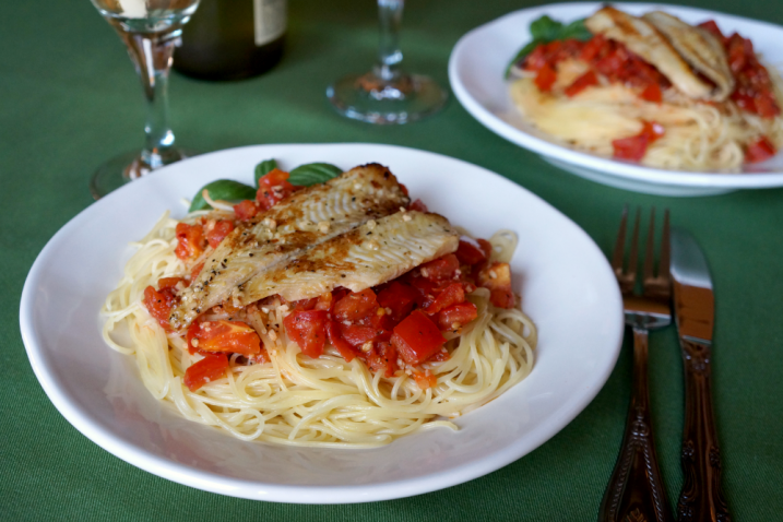 tilapia scampi spaghetti and a giveaway!