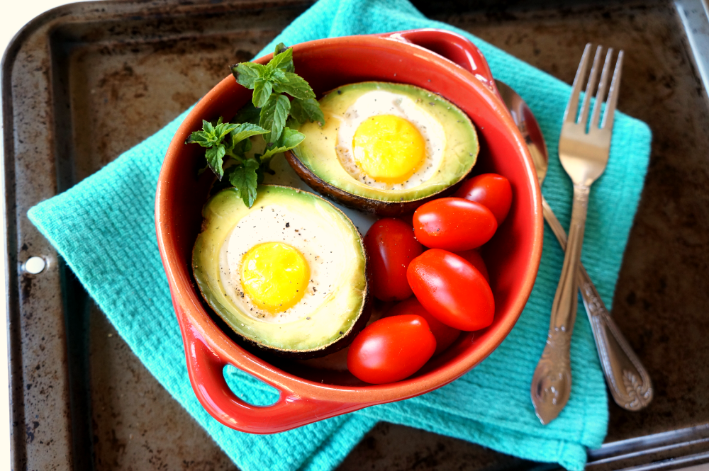 baked avocado eggs | The Baking Fairy