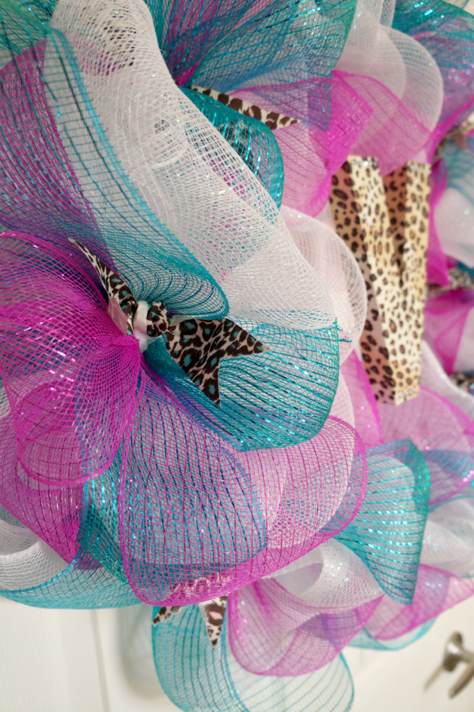 monogram mesh wreath | The Baking Fairy