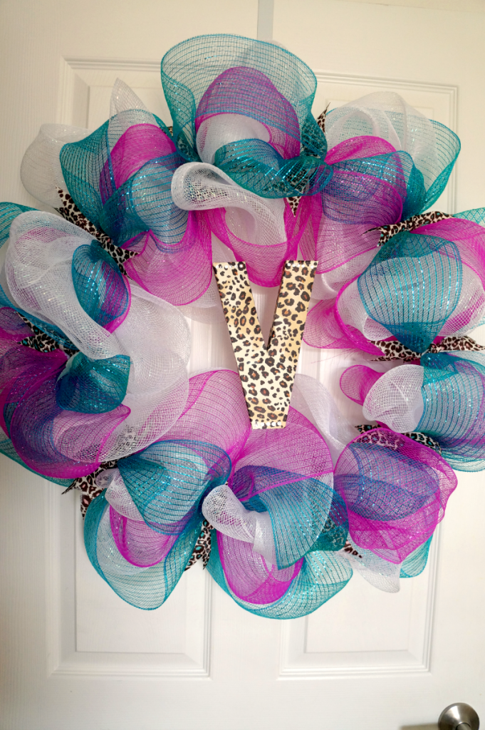 monogram mesh wreath | The Baking Fairy