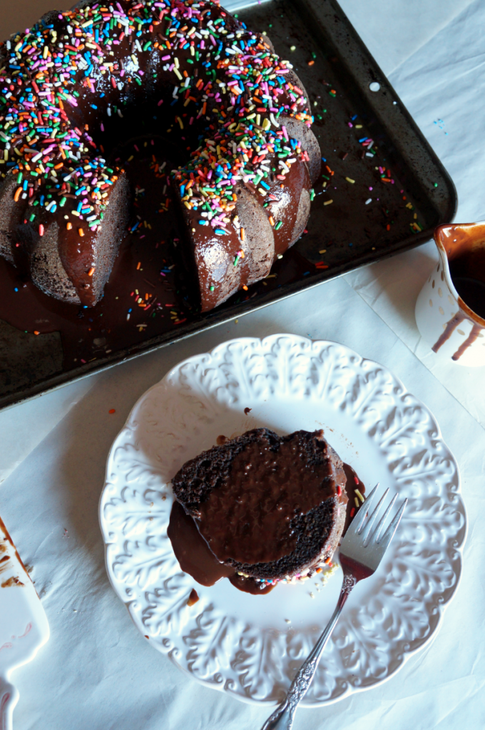 vegan chocolate bundt cake | The Baking Fairy