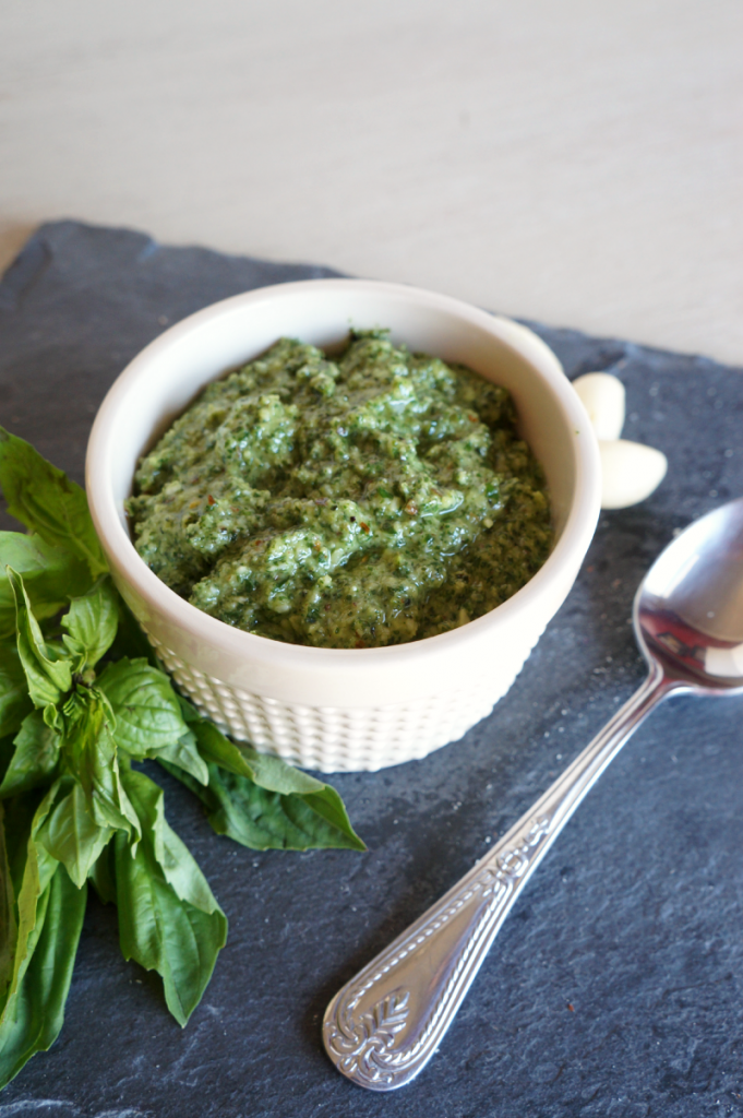 almond-basil pesto