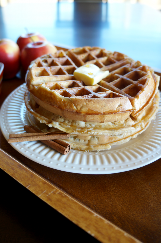 apple pie waffles | The Baking Fairy