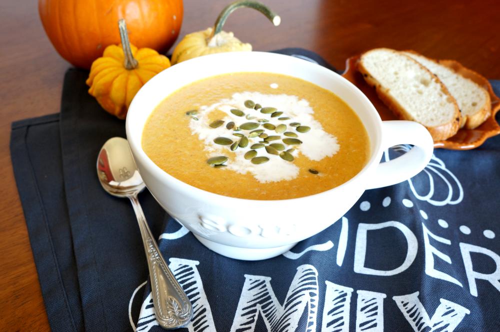 creamy pumpkin soup | The Baking Fairy