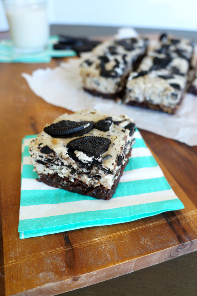 oreo cheesecake brownie bars | The Baking Fairy
