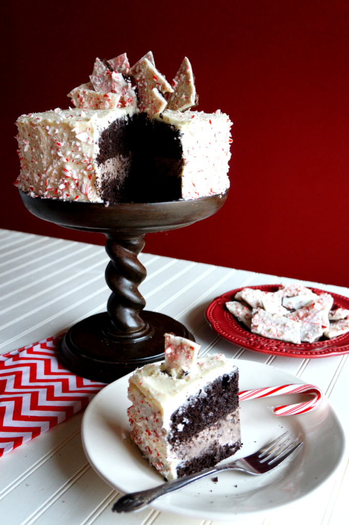 peppermint bark layer cake | The Baking Fairy