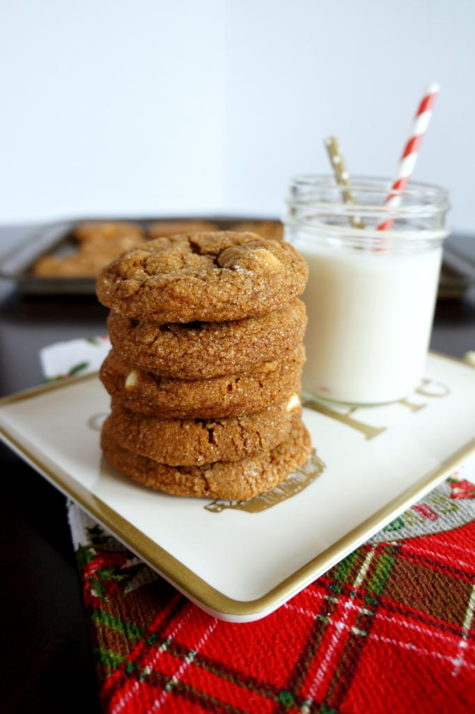white chocolate molasses crinkles | The Baking Fairy