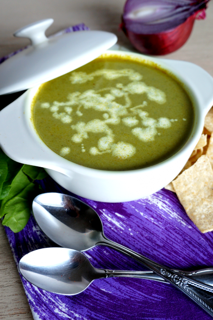 creamy poblano pepper soup