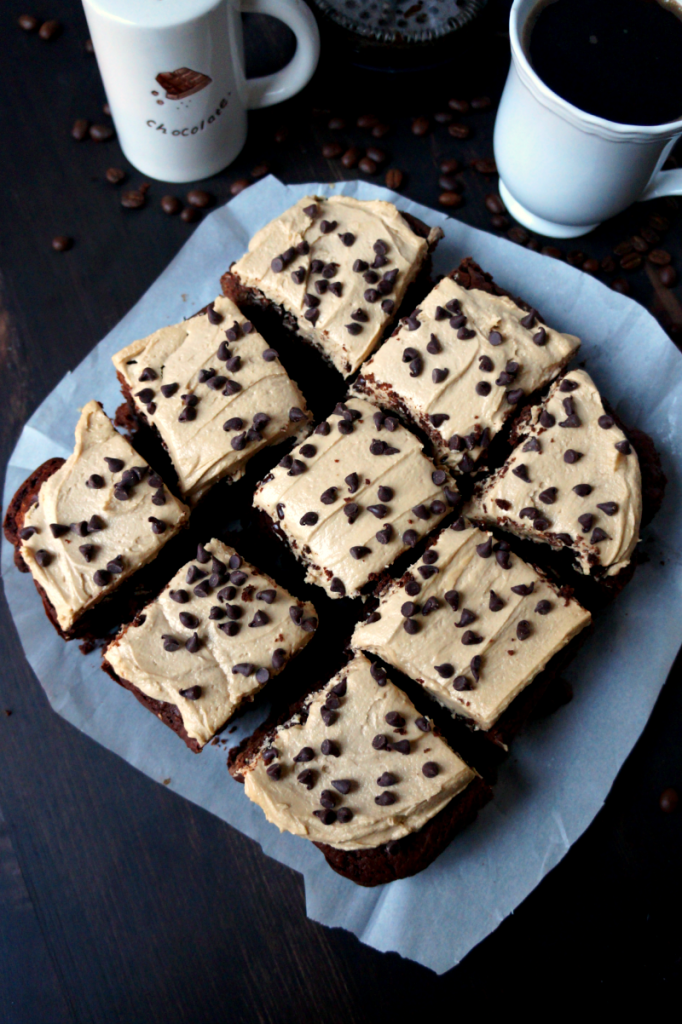 vegan cappuccino brownies