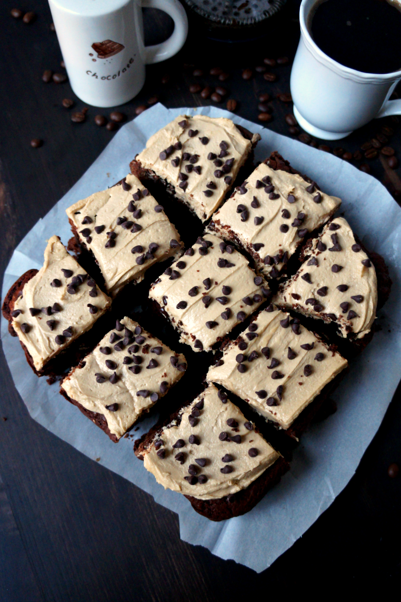 vegan cappuccino brownies | The Baking Fairy
