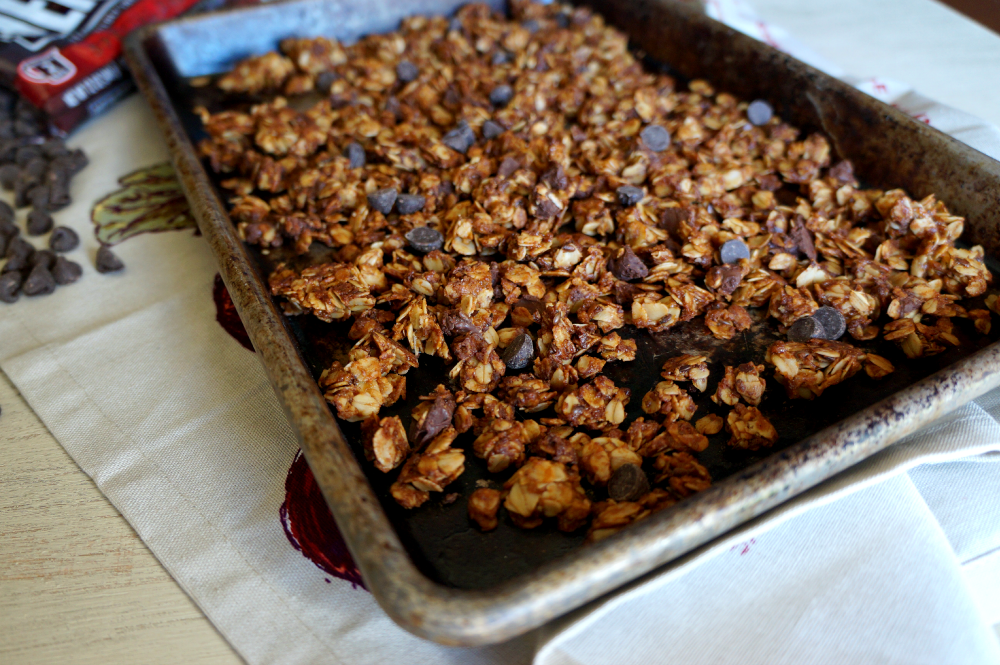 tahini dark chocolate granola | The Baking Fairy