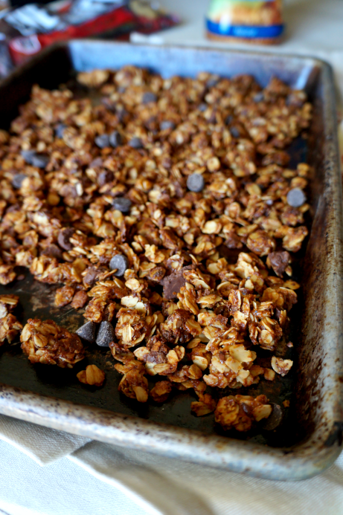 tahini dark chocolate granola | The Baking Fairy