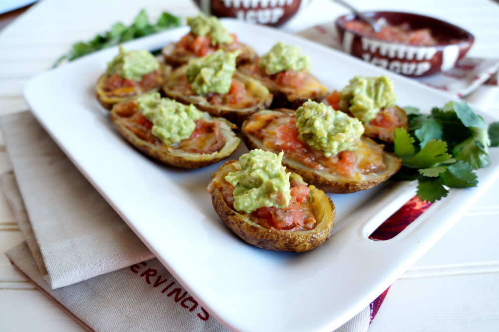 Tex-Mex potato skins with guacamole | The Baking Fairy