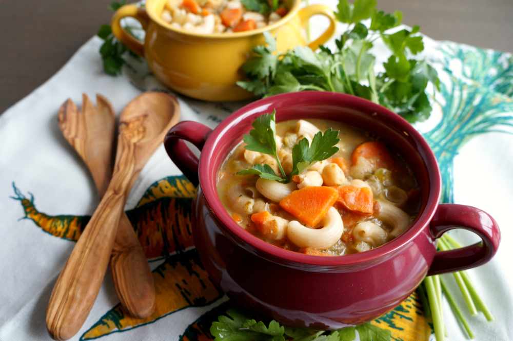 chickpea noodle soup   The Baking Fairy
