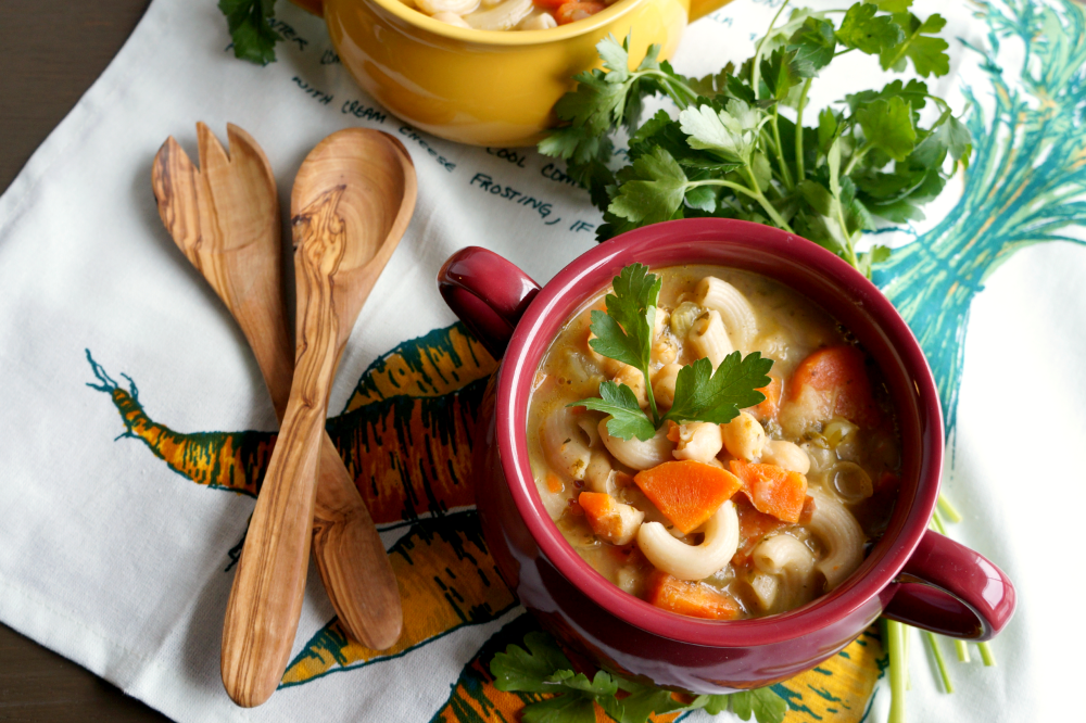 chickpea noodle soup | The Baking Fairy