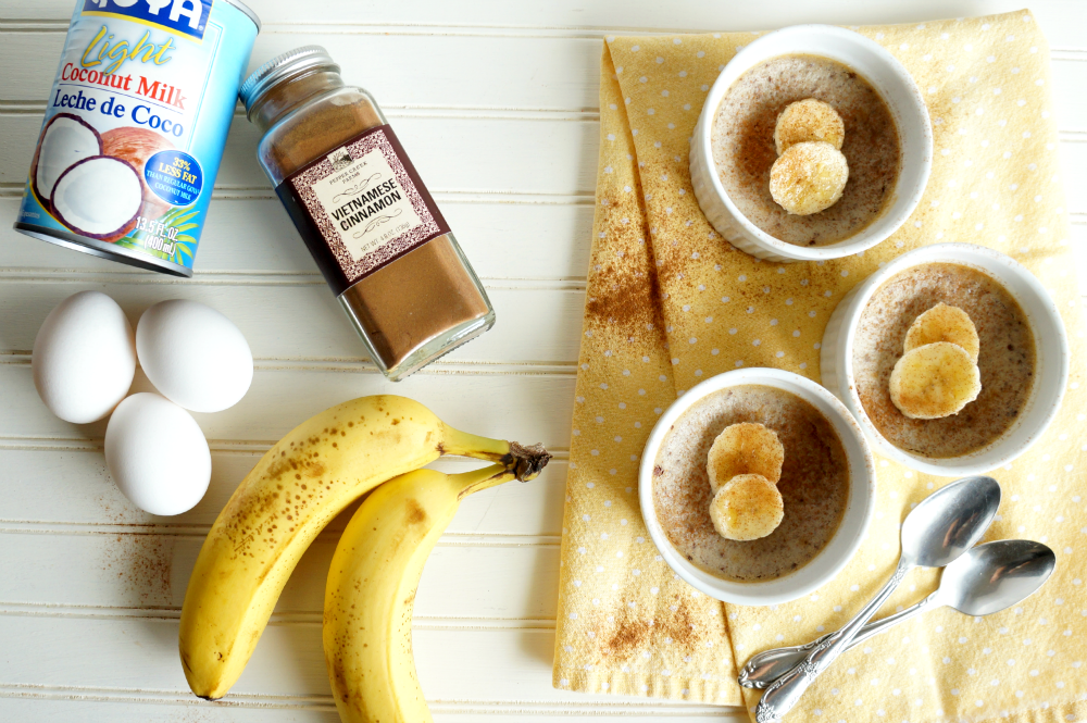 3-ingredient paleo banana custard | The Baking Fairy