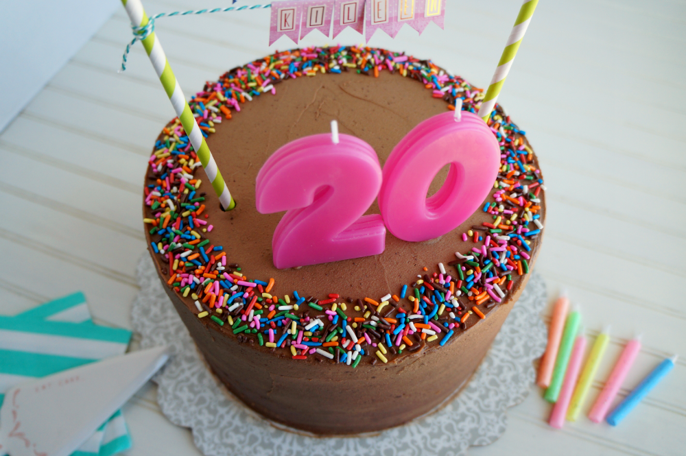 20th Birthday Chocolate Confetti Cake The Baking Fairy