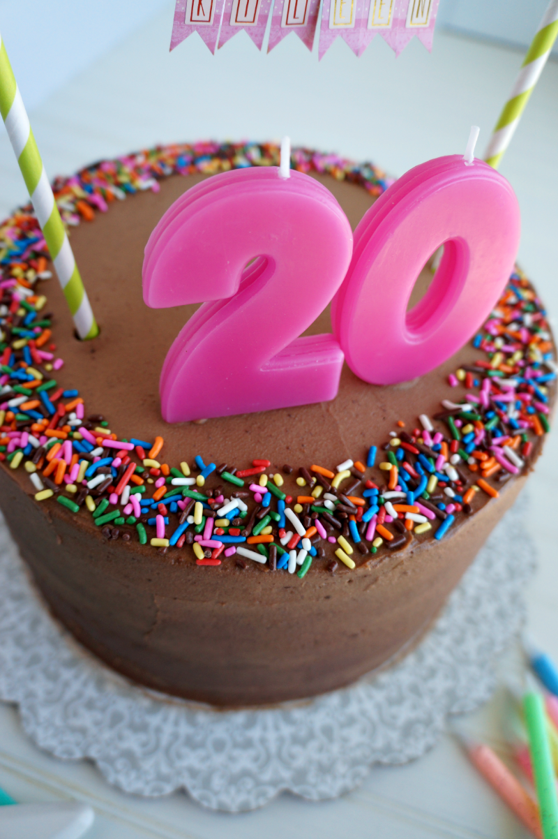 20th birthday cake 20th birthday chocolate confetti cake the baking 1060