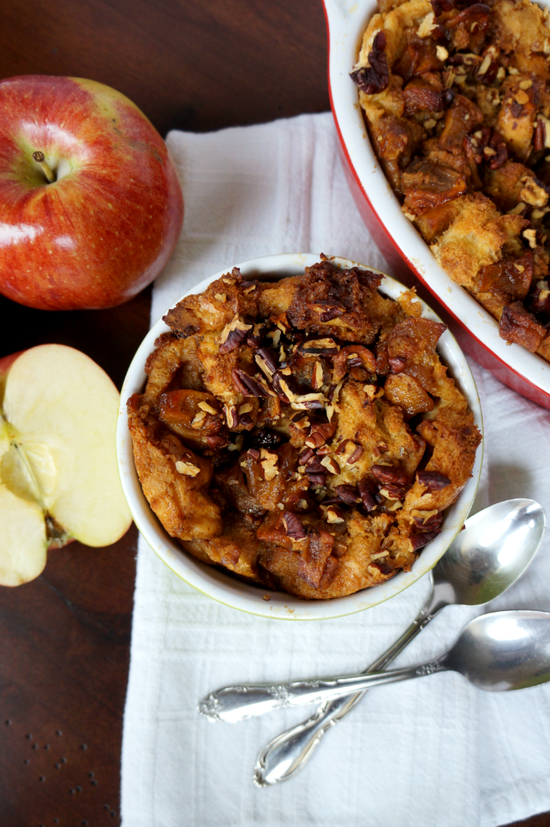 apple pie bread pudding | The Baking Fairy