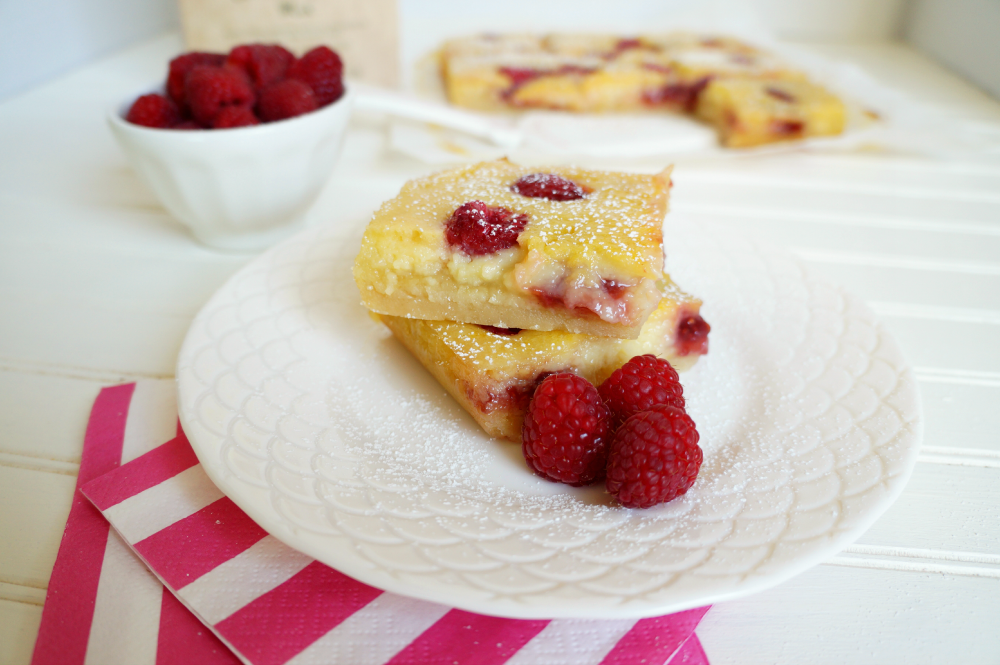 citrus raspberry bars | The Baking Fairy