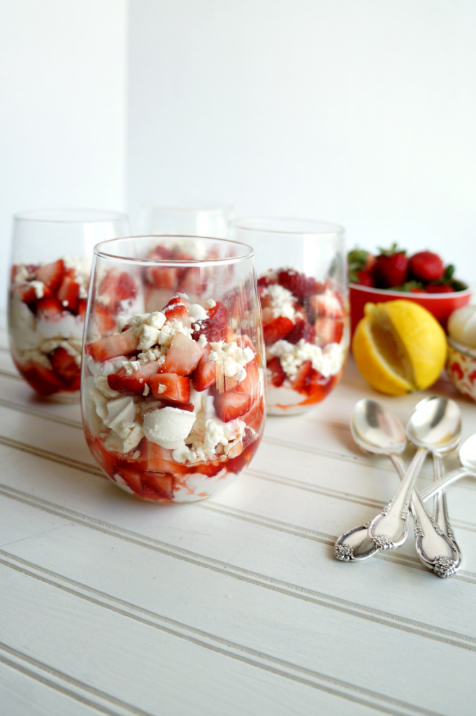 strawberry-lemon Eton mess