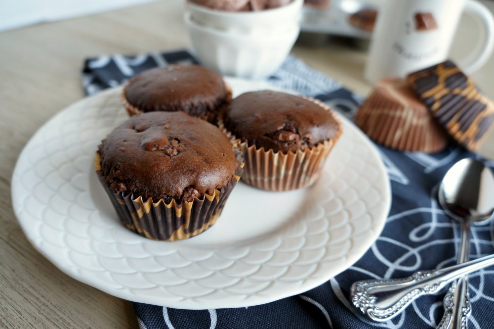 chocolate ice cream muffins | The Baking Fairy