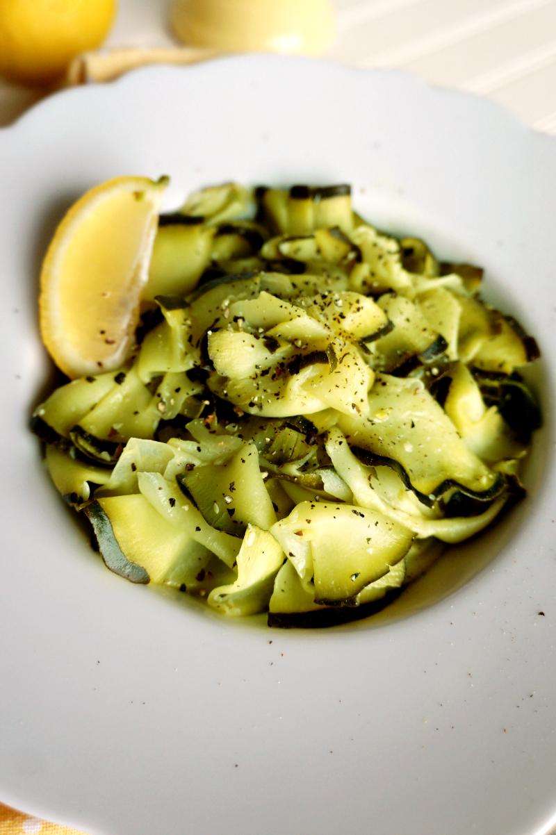 lemon-garlic zucchini ribbons | The Baking Fairy