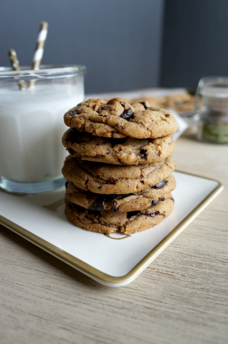smoked salt & browned butter chocolate chip cookies   The Baking Fairy